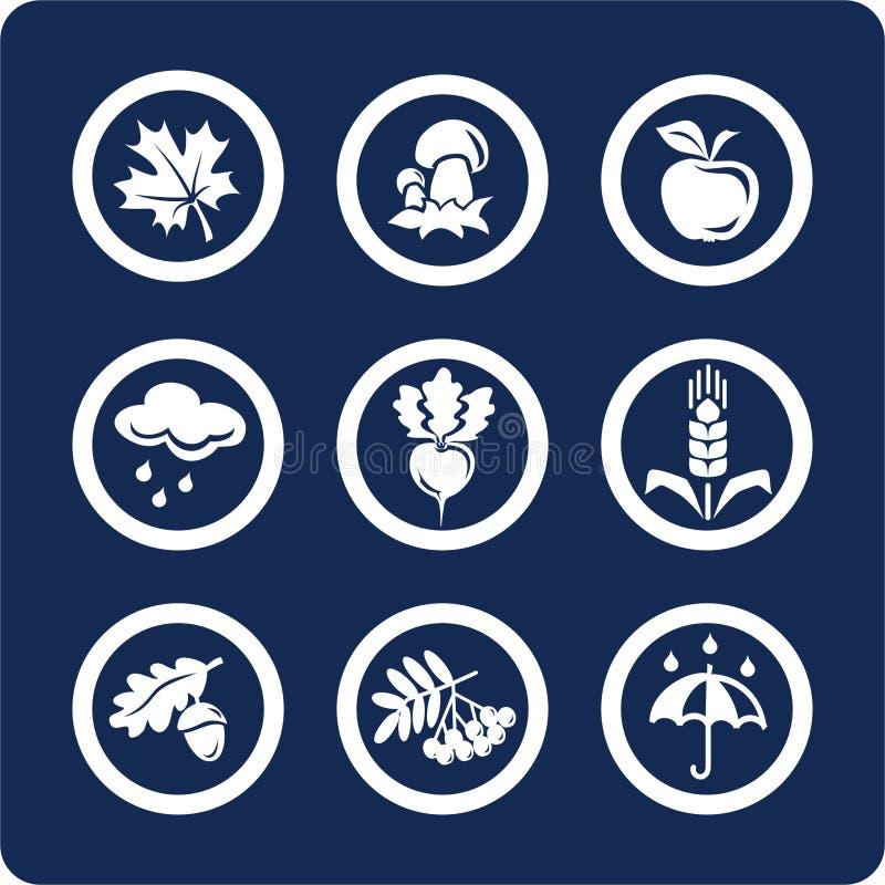 Seizoenen: De pictogrammen van de herfst (plaats 4, deel 1) royalty-vrije illustratie