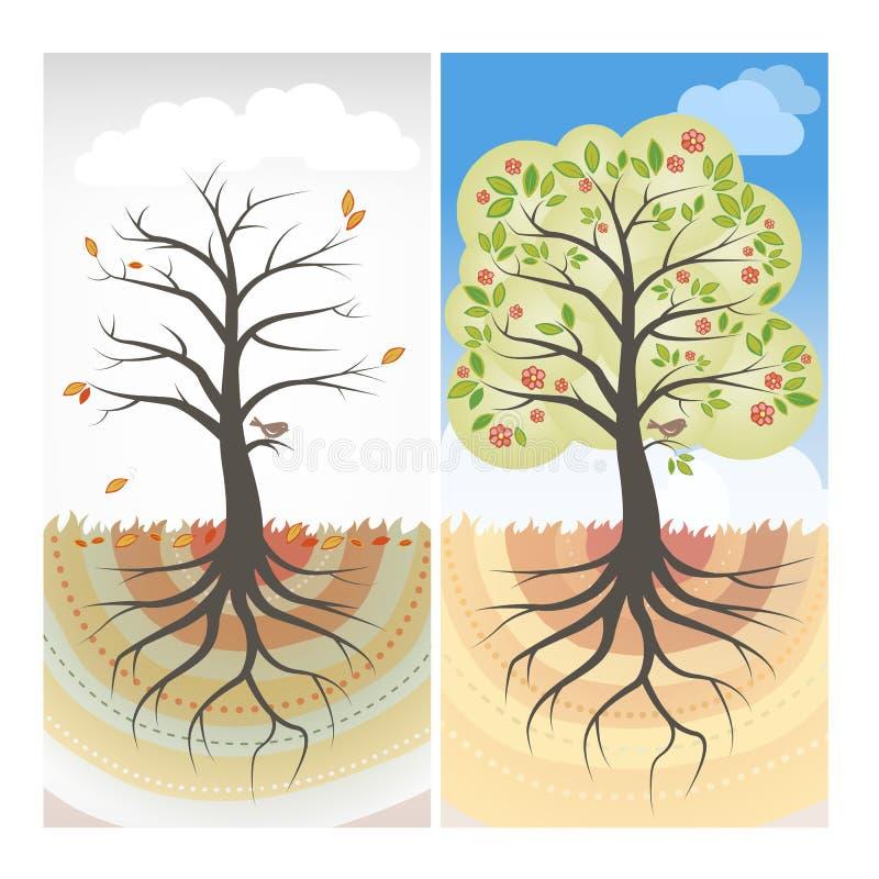 Seizoengebonden bomen vector illustratie