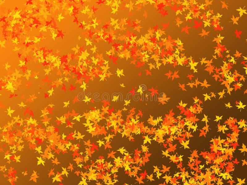 Seizoengebonden dalende bladeren als achtergrond royalty-vrije illustratie