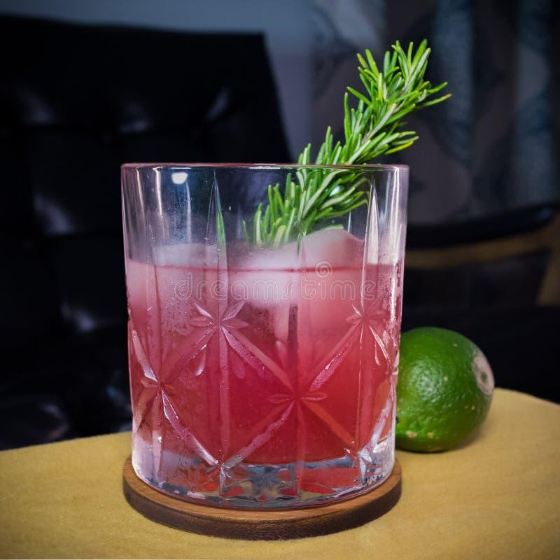 Seizoengebonden Granaatappel Margarita in Waterford Crystal Glass stock fotografie