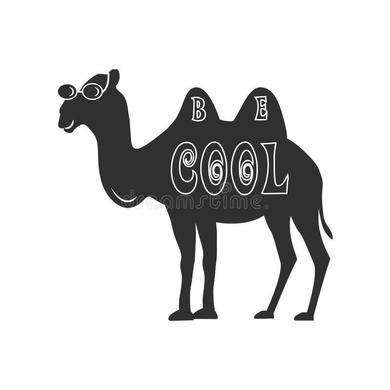 Seja camelo fresco ilustração do vetor