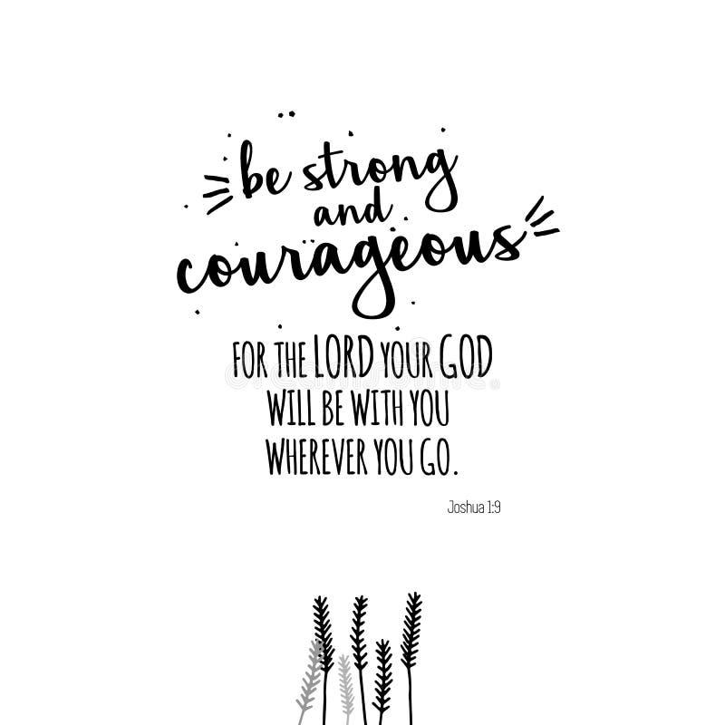 Seja citações fortes e corajosas ilustração stock
