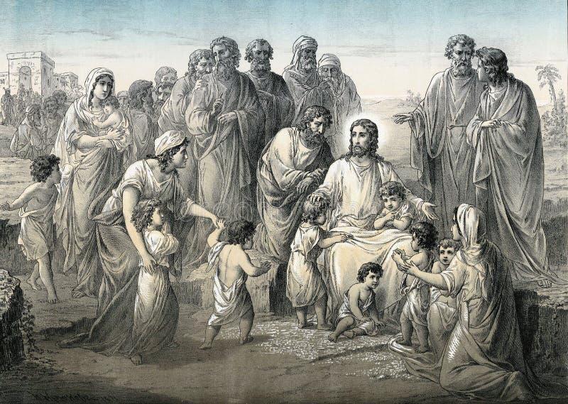 Seja como crianças o ` de tais é o ` do reino dos céus ilustração stock