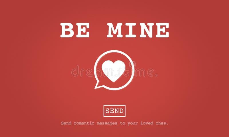 Seja conceito de Valentine Romance Heart Love Passion da mina ilustração do vetor