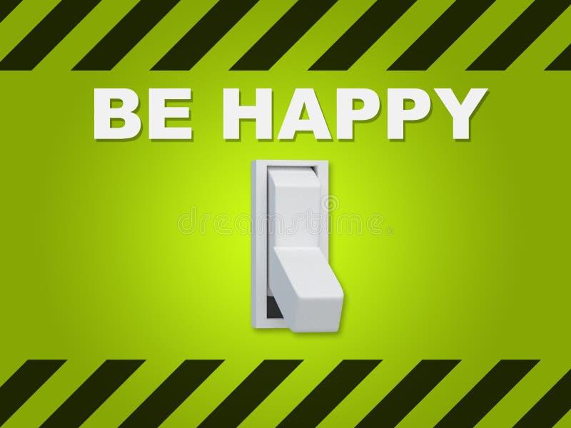 Seja conceito feliz ilustração stock