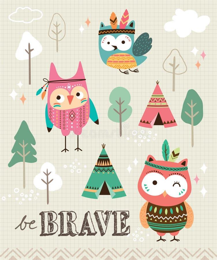 Seja corajoso ilustração royalty free