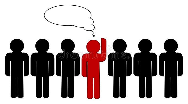 Seja diferente! ilustração stock