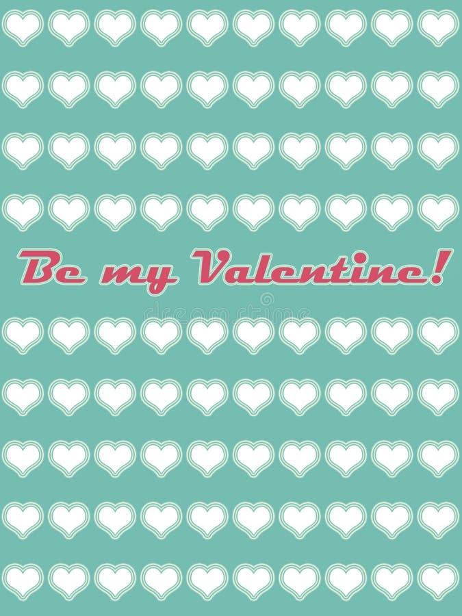 Seja meu cartão 01 do Valentim ilustração stock