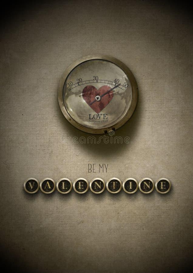 Seja meu steampunk do Valentim ilustração royalty free