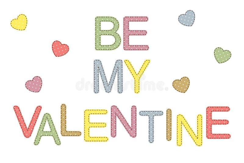 Seja meu Valentim! ilustração stock