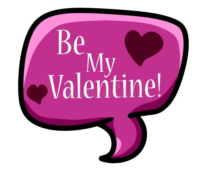 Seja meu Valentine Chat Icon ilustração do vetor