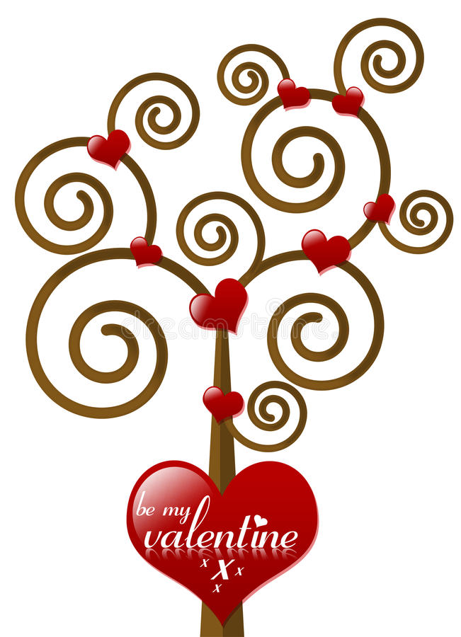 Seja minha árvore do Valentim ilustração do vetor