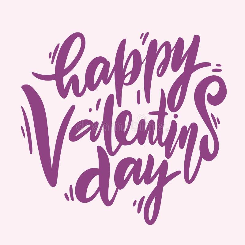 Seja minha rotulação do Valentim Ilustração do vetor de Valentine Greeting Card ilustração do vetor