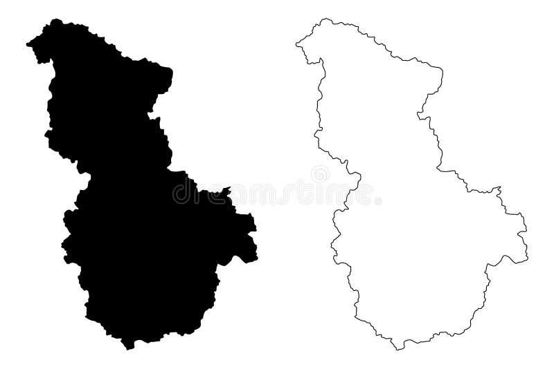 Sejong översiktsvektor vektor illustrationer