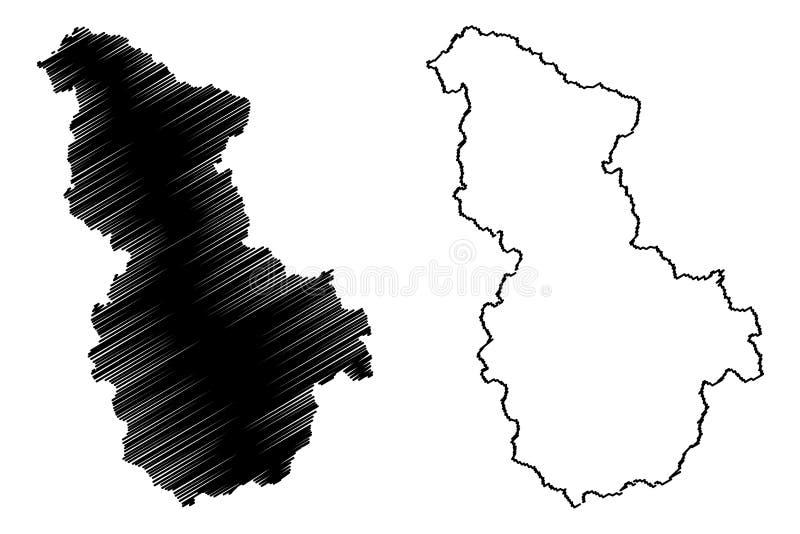 Sejong översiktsvektor stock illustrationer