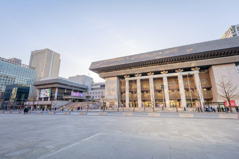 Sejong Center für Ausführungsart seoul Sejong Center für Performing Art ist die größten Künste und der kulturelle Komplex in Seou stockbilder