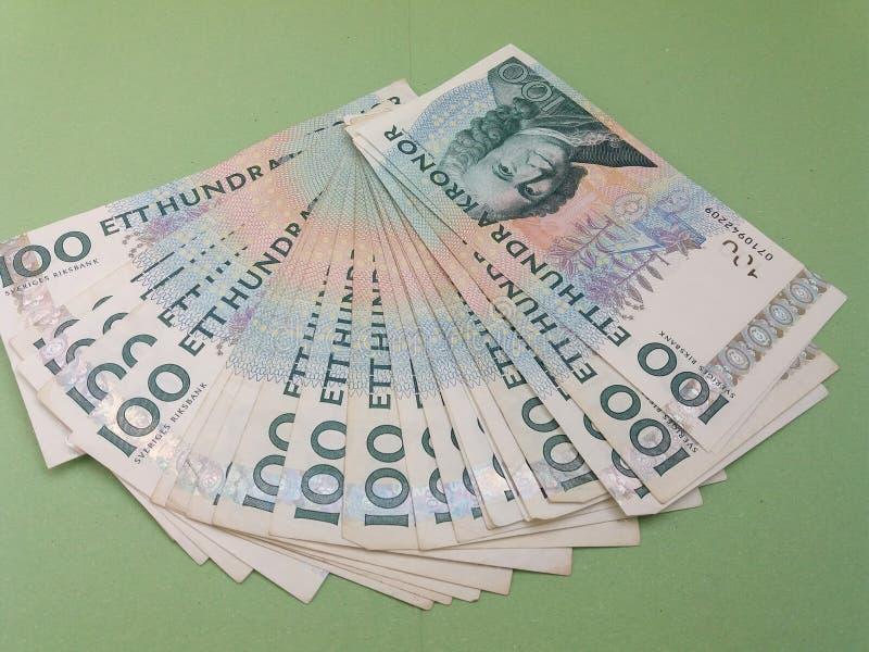 100 SEK-Anmerkungen der Schwedischen Krone, Währung von Schweden Se lizenzfreie stockfotografie