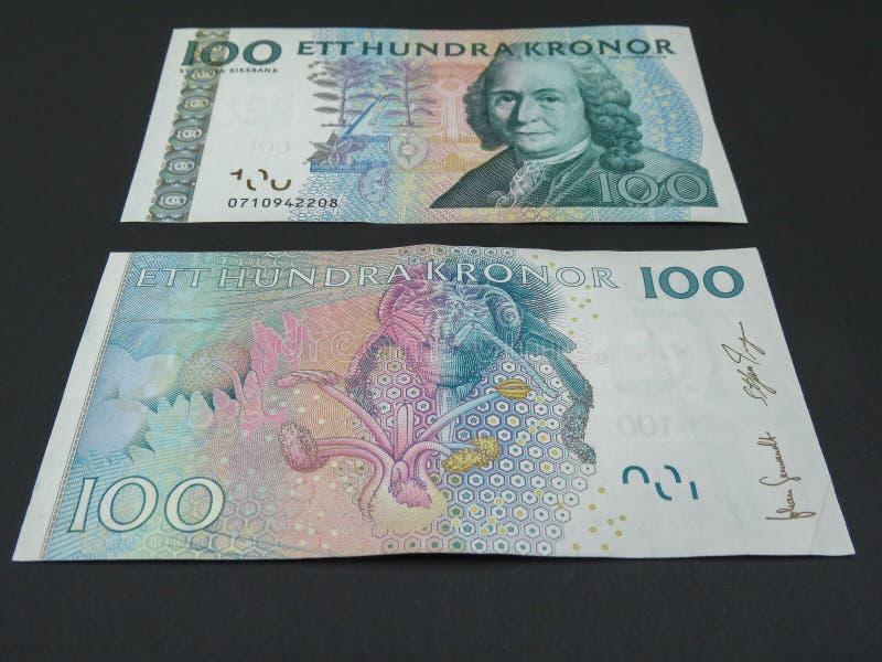 SEK sueco da moeda fotografia de stock