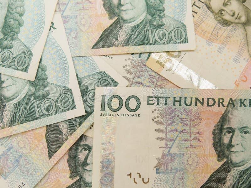 SEK sueco da moeda da Suécia fotos de stock