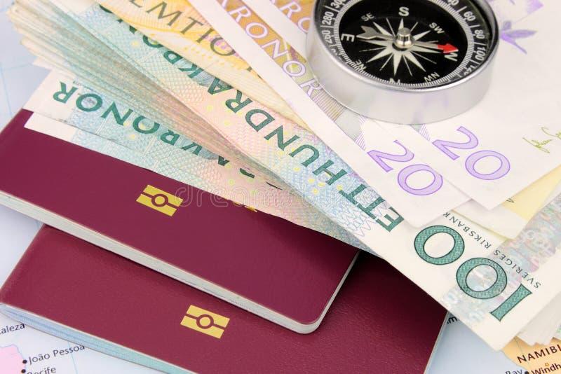 SEK van het reisgeld stock foto's