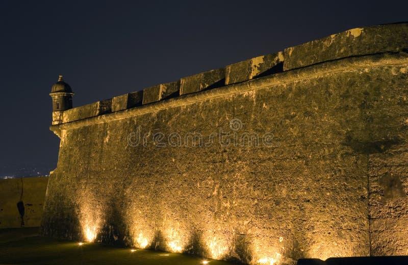 Sekcja El Morro w Starym San Juan Puerto Rico zdjęcie stock