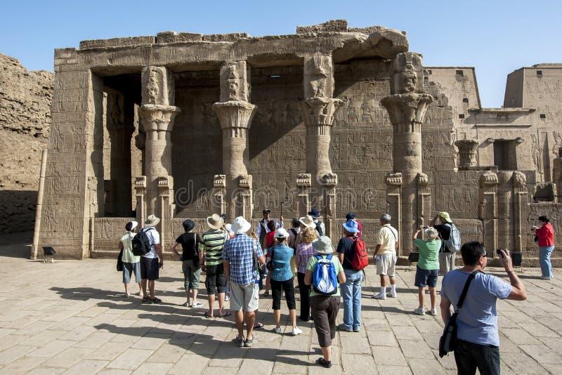 Sekcja mammmisi Horus przy świątynią Horus w Edfu w Egipt (narodziny dom) obrazy royalty free