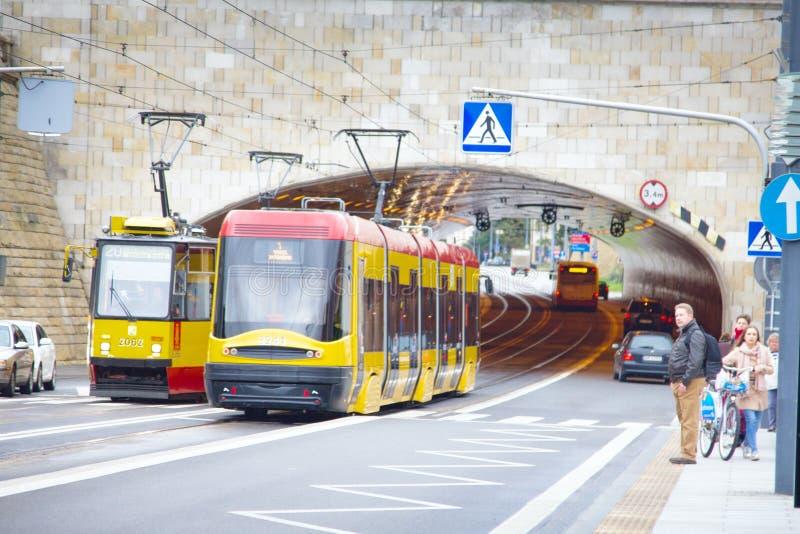 Sekcja tramwaj zdjęcia stock