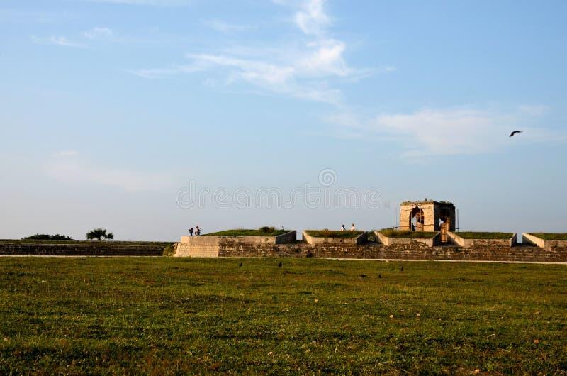 Sekcje ścienny i strażowy dom przy Jaffna fortem Sri Lanka zdjęcia royalty free