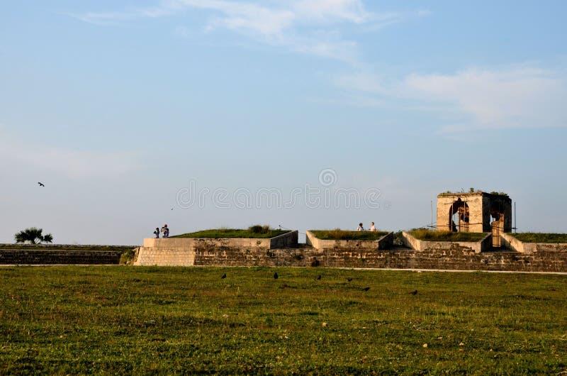 Sekcje ścienny i strażowy dom przy Jaffna fortem Sri Lanka fotografia stock