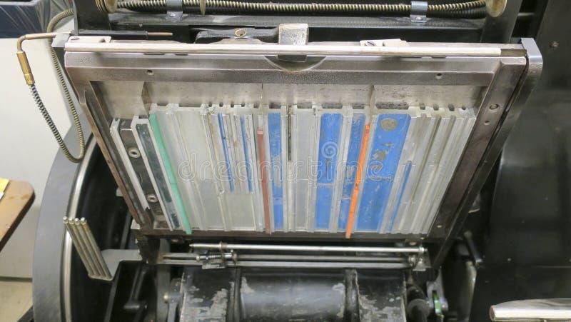 Sekcje drukowe maszyny zdjęcia royalty free