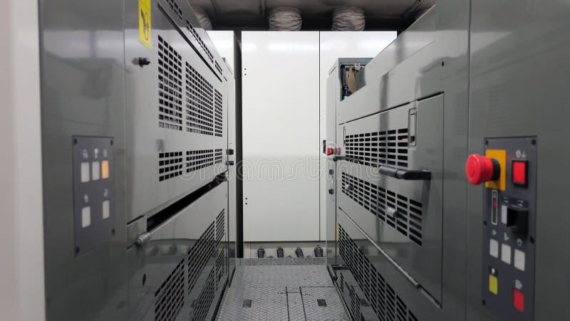Sekcje drukowe maszyny fotografia stock