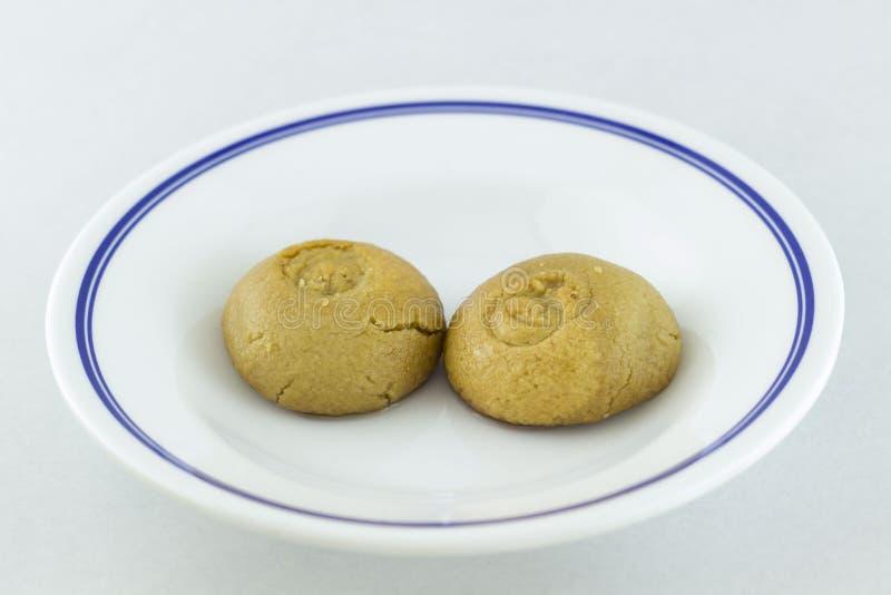 Sekerpare-dessert stock images