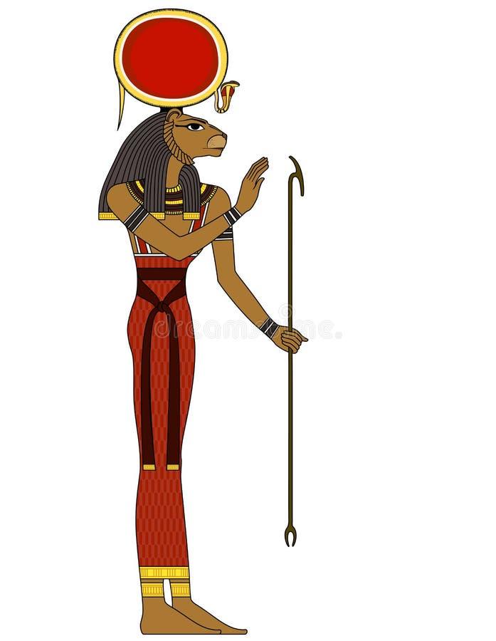 Sekhmet, chiffre d'isolement des divinités d'Egypte antique illustration libre de droits