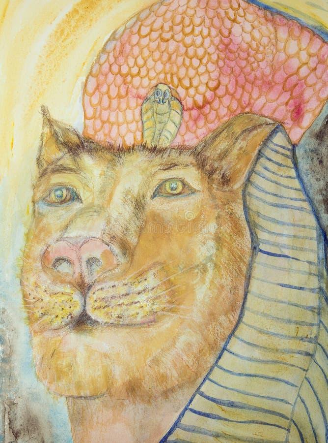 Sekhmet la leona libre illustration