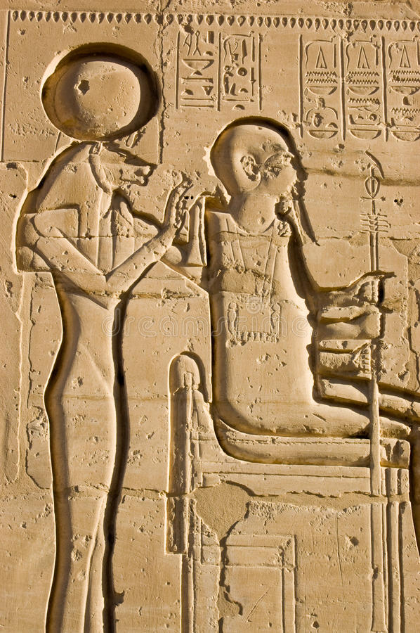 Download Sekhmet and Ptah stock image. Image of carving, bank - 18006153