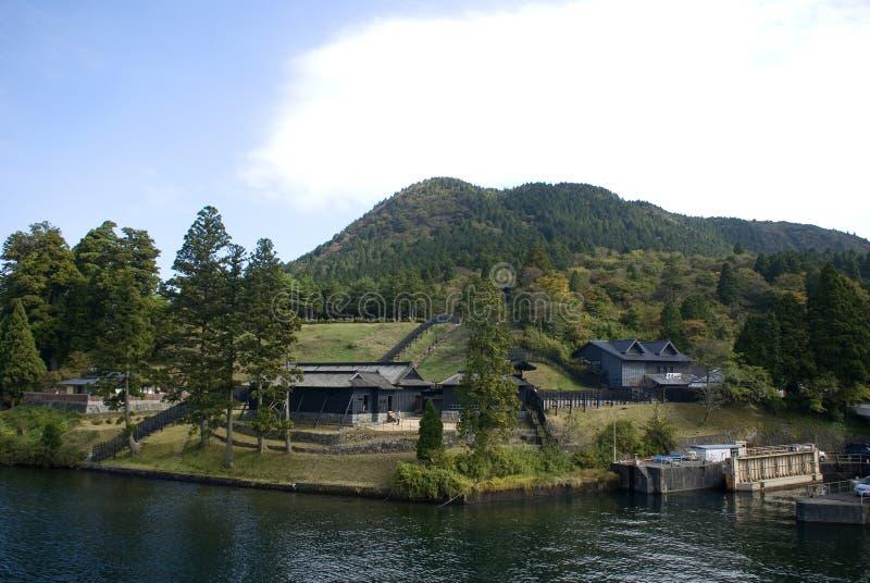 Sekisho fördärvar, Hakone, Japan royaltyfri fotografi