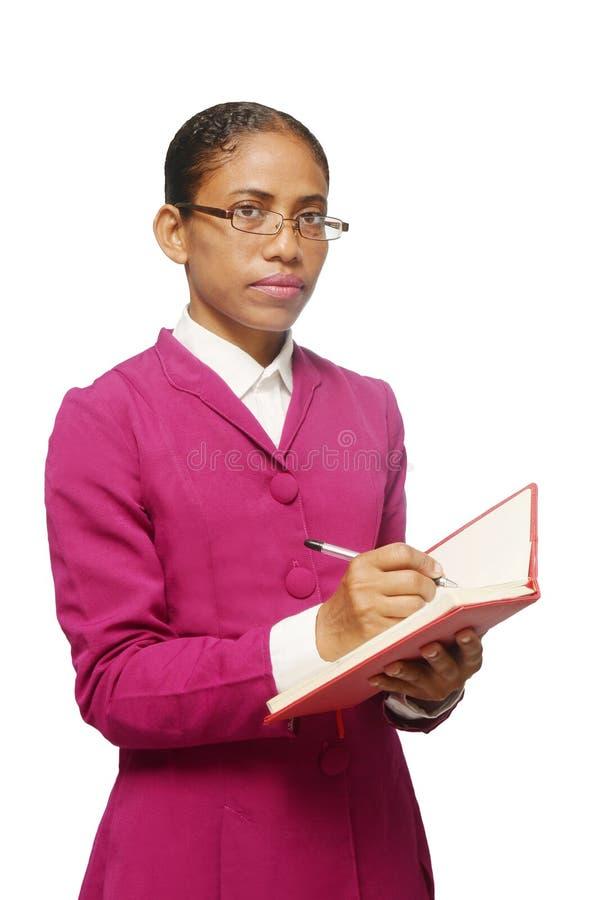 Sekretär, der Kenntnisse nimmt lizenzfreies stockbild
