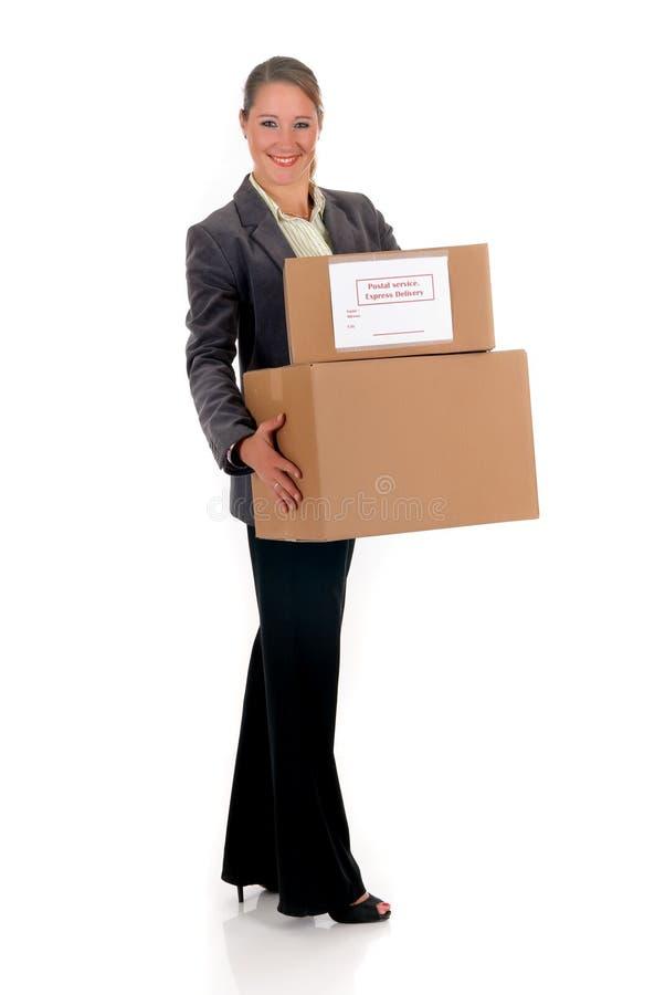 Sekretär Postpaket stockfoto