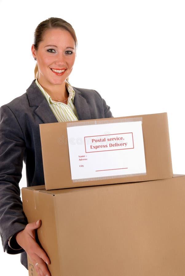 Sekretär Postpaket stockfotos