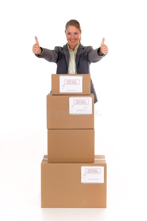 Sekretär Postpaket lizenzfreies stockfoto
