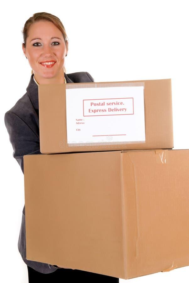 Sekretär Postpaket lizenzfreie stockfotografie
