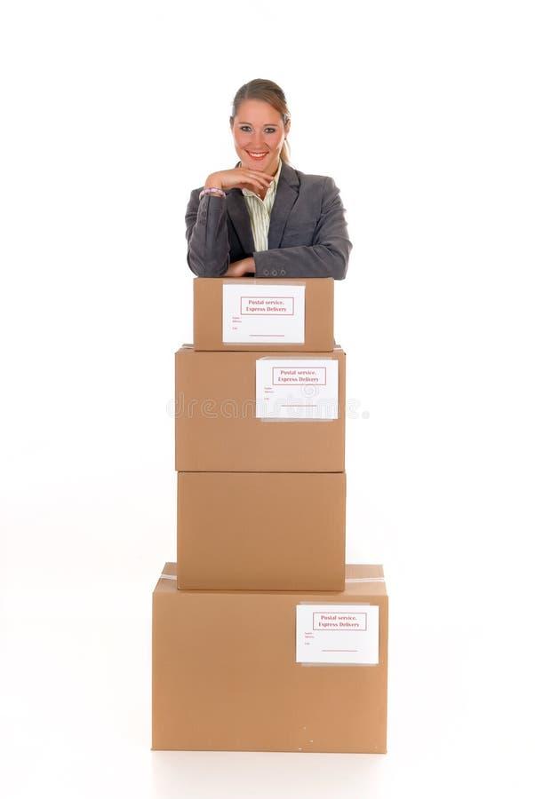 Sekretär Postpaket lizenzfreie stockbilder