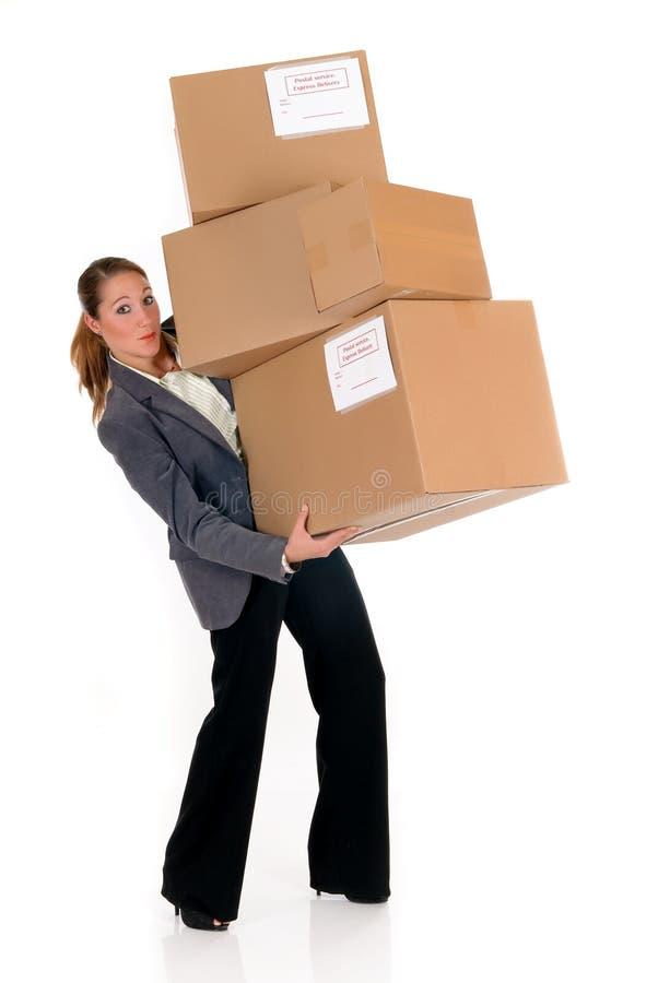 Sekretär Postpaket lizenzfreie stockfotos