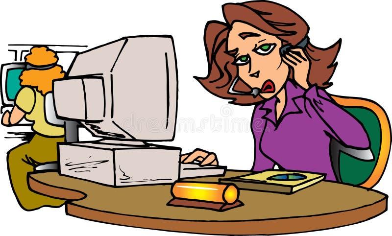 Sekretär am Telefon stock abbildung