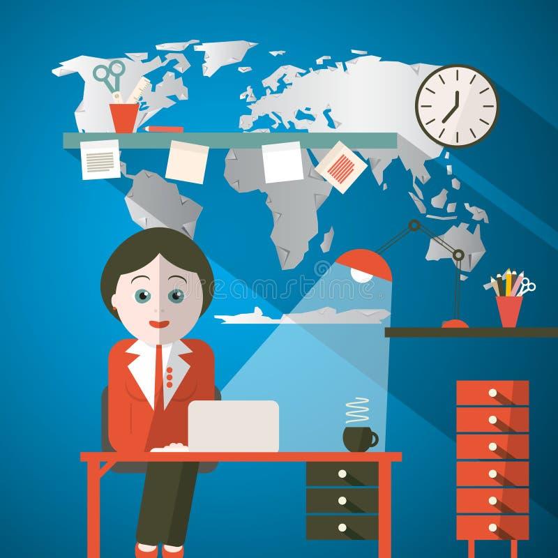 Download Sekretarka W Biurze Lub Podawca W Studiu Ilustracji - Ilustracja złożonej z globalny, okupacyjny: 57654547
