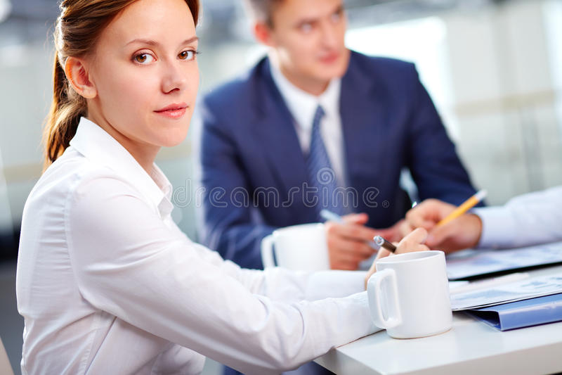 Sekreterarearbete arkivbild