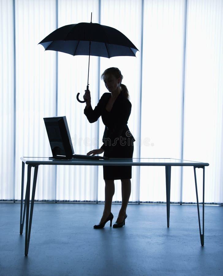 sekreterareparaply fotografering för bildbyråer