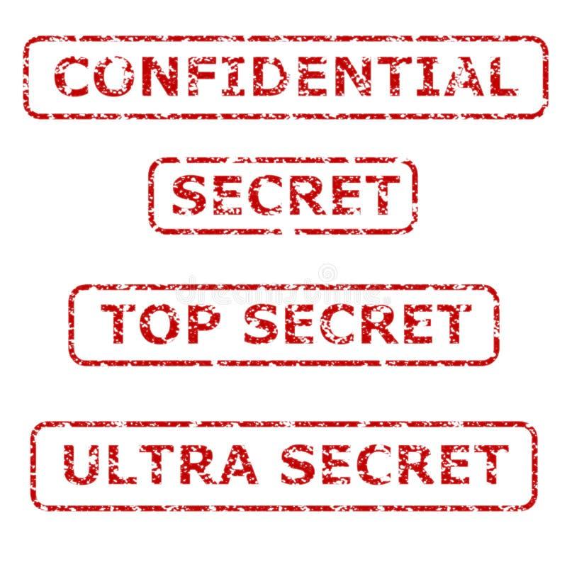 sekretność gumowi znaczki royalty ilustracja