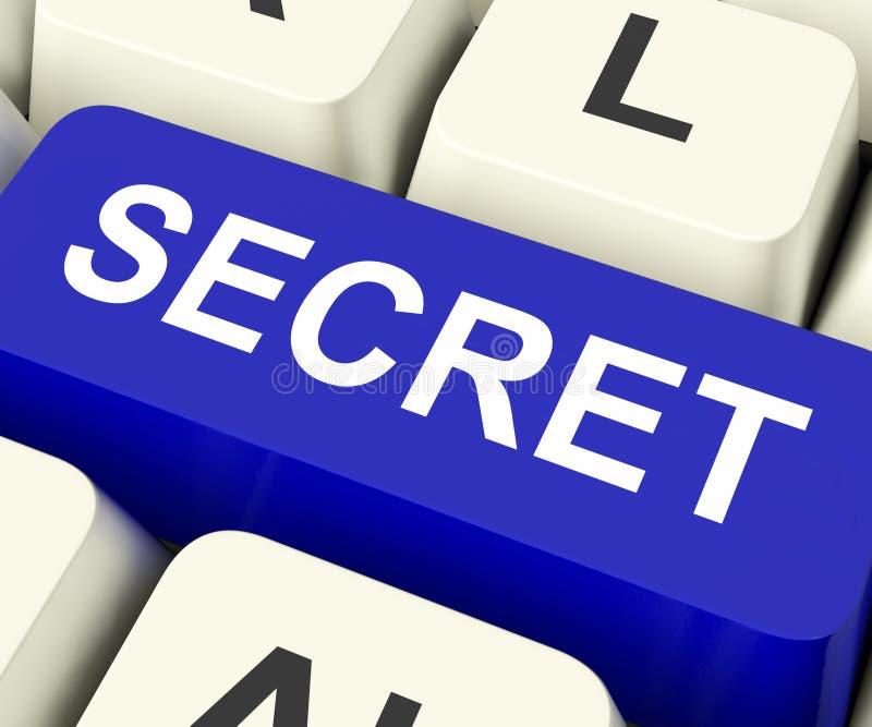 Sekretu klucz Znaczy Poufnego Lub Dyskretnego obraz royalty free