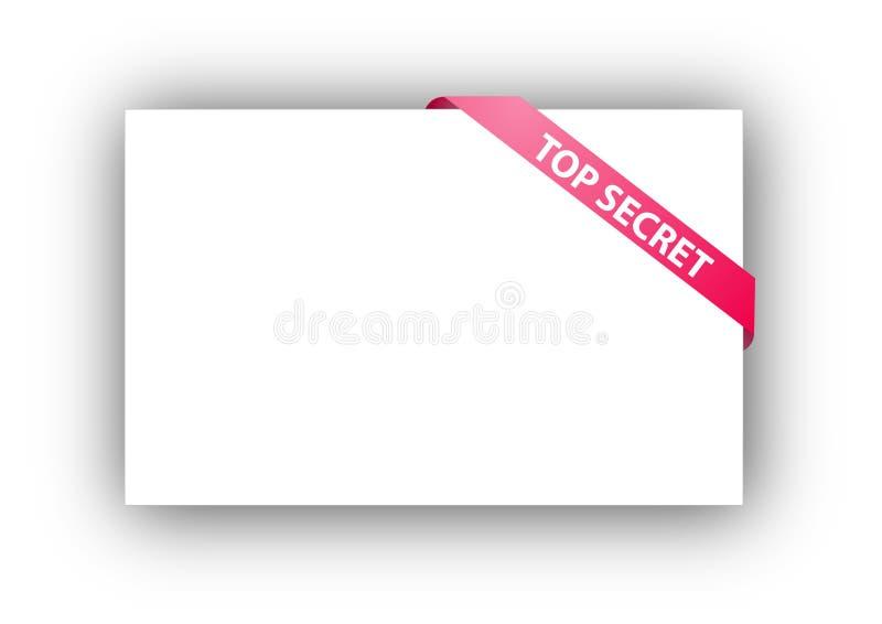 sekretu narożnikowy tasiemkowy wierzchołek ilustracji